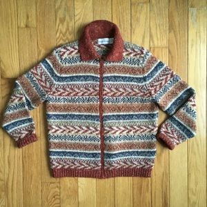 Vintage Alfred Dunner Zip Knit Cardigan Sweater